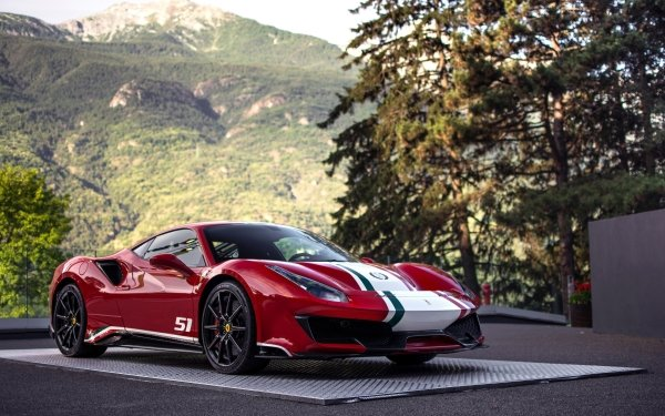 Véhicules Ferrari 488 Ferrari Voiture Red Car Sport Car Supercar Fond d'écran HD | Image
