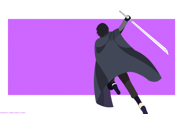 Anime Boruto Naruto Sword Minimalist Uchiha Clan Sasuke Uchiha HD Wallpaper   Background Image