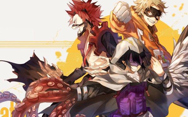 Anime My Hero Academia Tamaki Amajiki Eijiro Kirishima Taishiro Toyomitsu Fatgum HD Wallpaper | Background Image