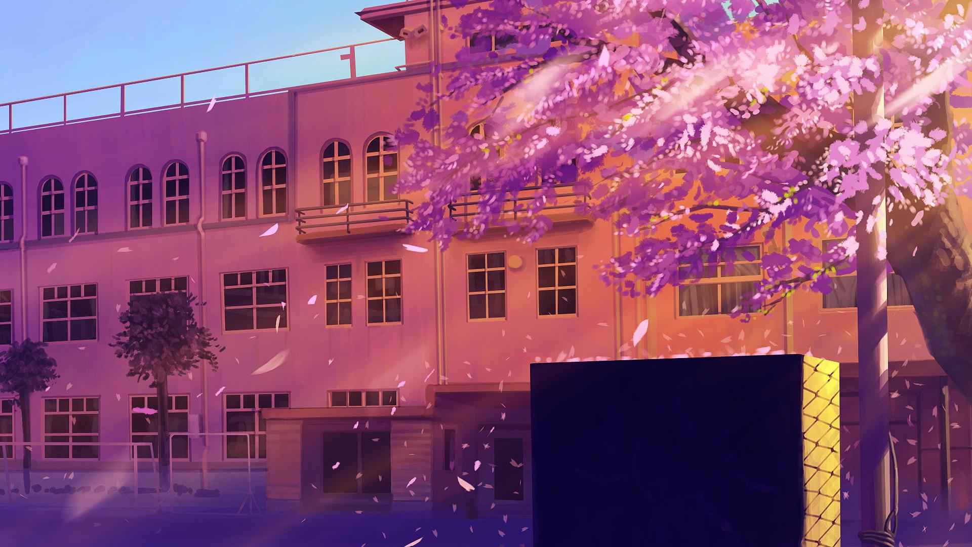 Картинки школы аниме