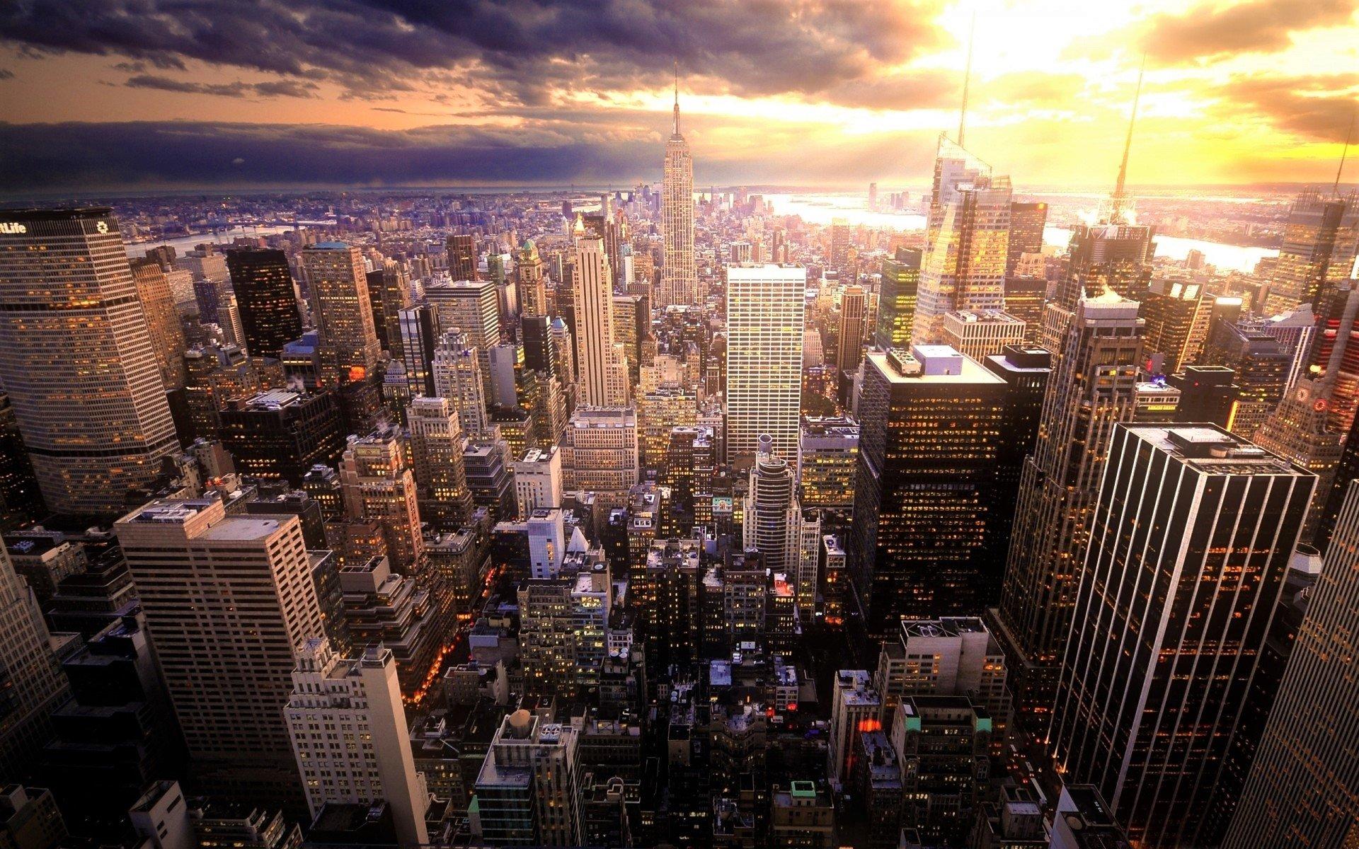 Manhattan New York City Hd Duvar Kağıdı Arka Plan 1920x1200