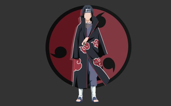 Anime Naruto Uchiha Clan Itachi Uchiha Akatsuki Minimalist HD Wallpaper   Background Image