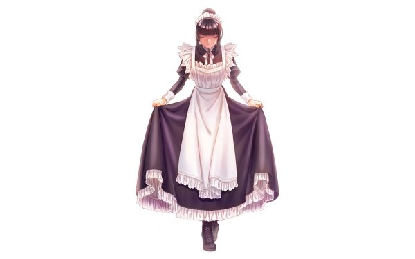 Anime Overlord Narberal Gamma Headdress Apron Maid Black Hair HD Wallpaper | Background Image