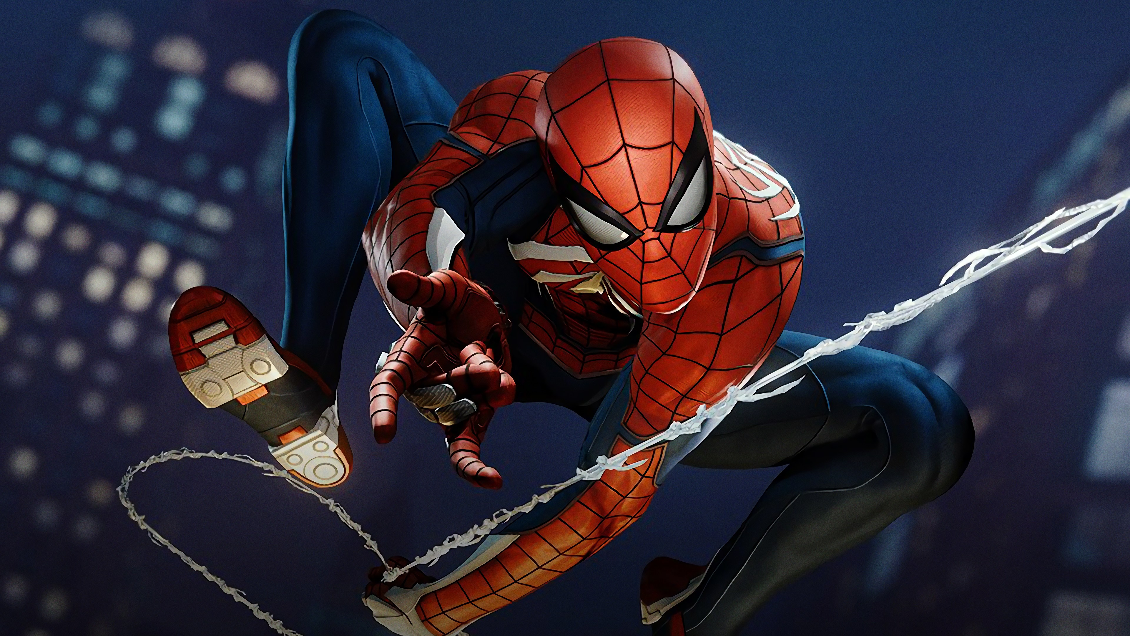 Spider Man Ps4 Spider Man Web Swing 4k Ultra Fondo De