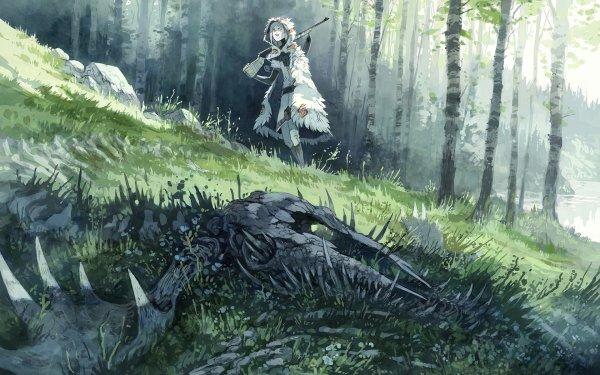 Comics Stand Still, Stay Silent Woman Gun Forest HD Wallpaper   Background Image