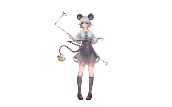 Anime Touhou Nazrin Girl White Hair Short Hair Basket Shoe HD Wallpaper   Background Image