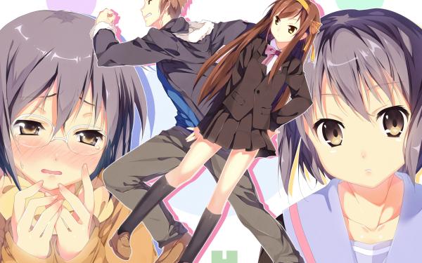 Anime The Disappearance of Nagato Yuki-chan Yuki Nagato Kyon Haruhi Suzumiya HD Wallpaper   Background Image