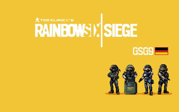 Video Game Tom Clancy's Rainbow Six: Siege Pixel Art HD Wallpaper   Background Image