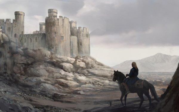 Fantasy Castle Castles Horse Adventure HD Wallpaper | Background Image
