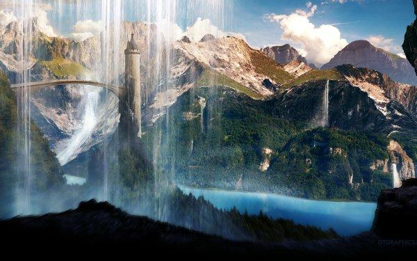 Fantasy Landscape HD Wallpaper | Background Image