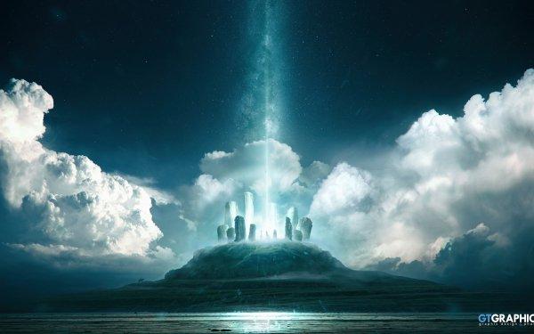 Sci Fi Landscape Dolmen HD Wallpaper | Background Image