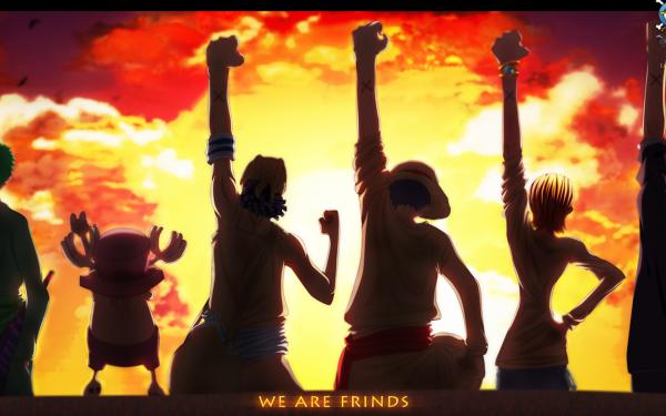 Anime One Piece Monkey D. Luffy Nami Sanji Usopp Tony Tony Chopper Roronoa Zoro HD Wallpaper   Background Image