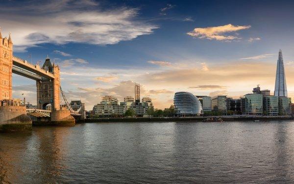 Man Made London Cities United Kingdom Tower Bridge City Building Skyscraper HD Wallpaper | Background Image