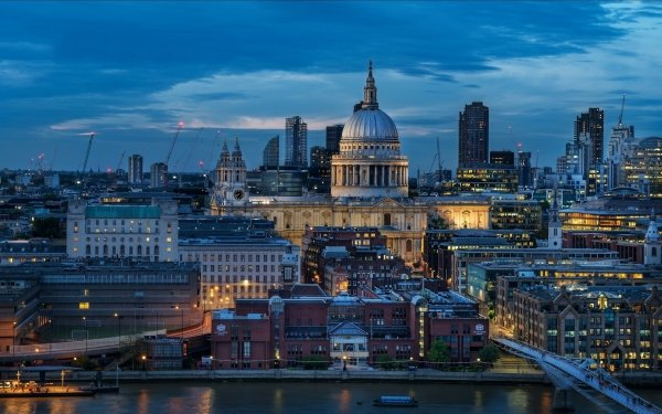 Man Made London Cities United Kingdom St Paul's Cathedral HD Wallpaper | Background Image