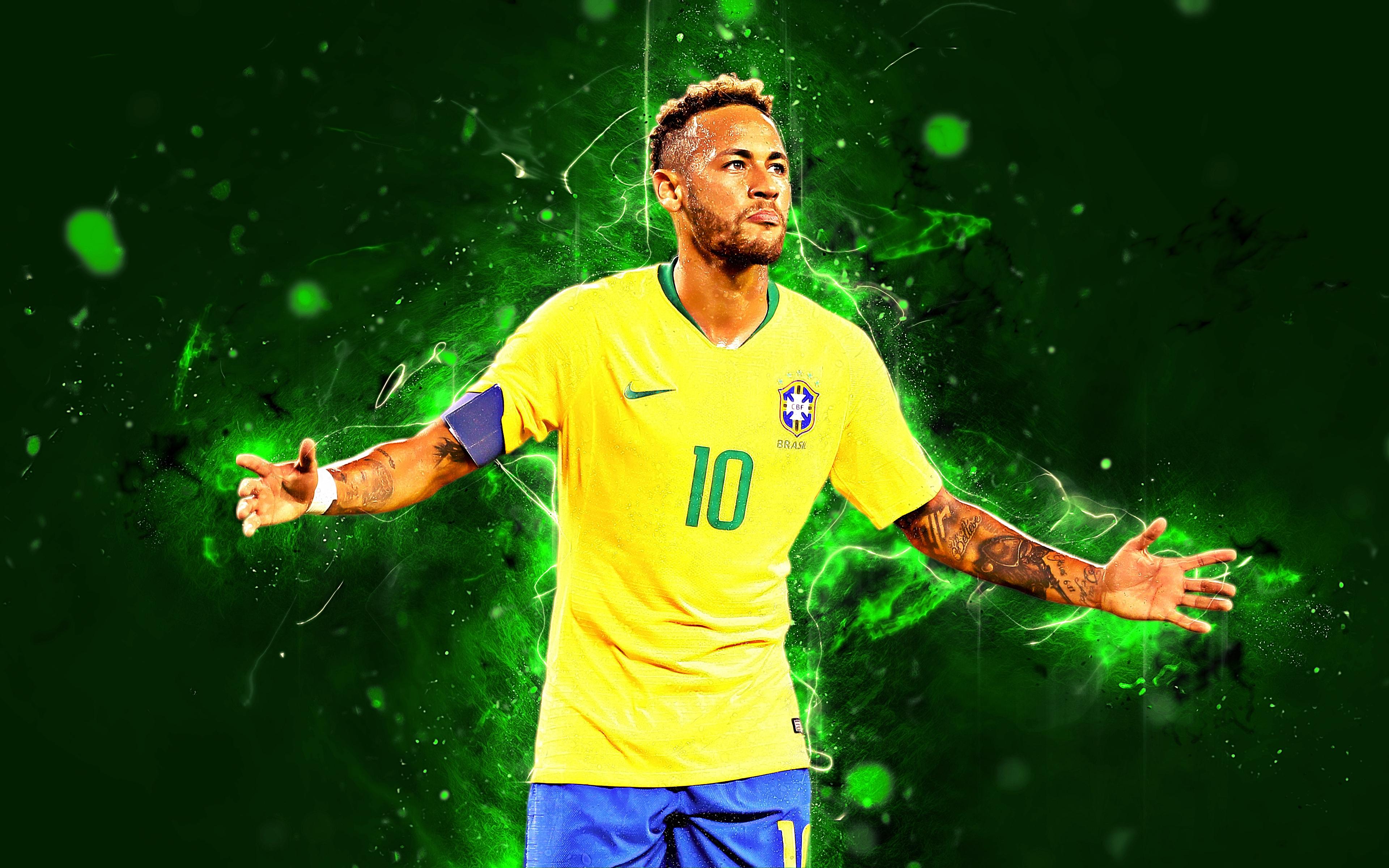 Neymar Jr Brazil 4k Ultra Hd Wallpaper Background Image