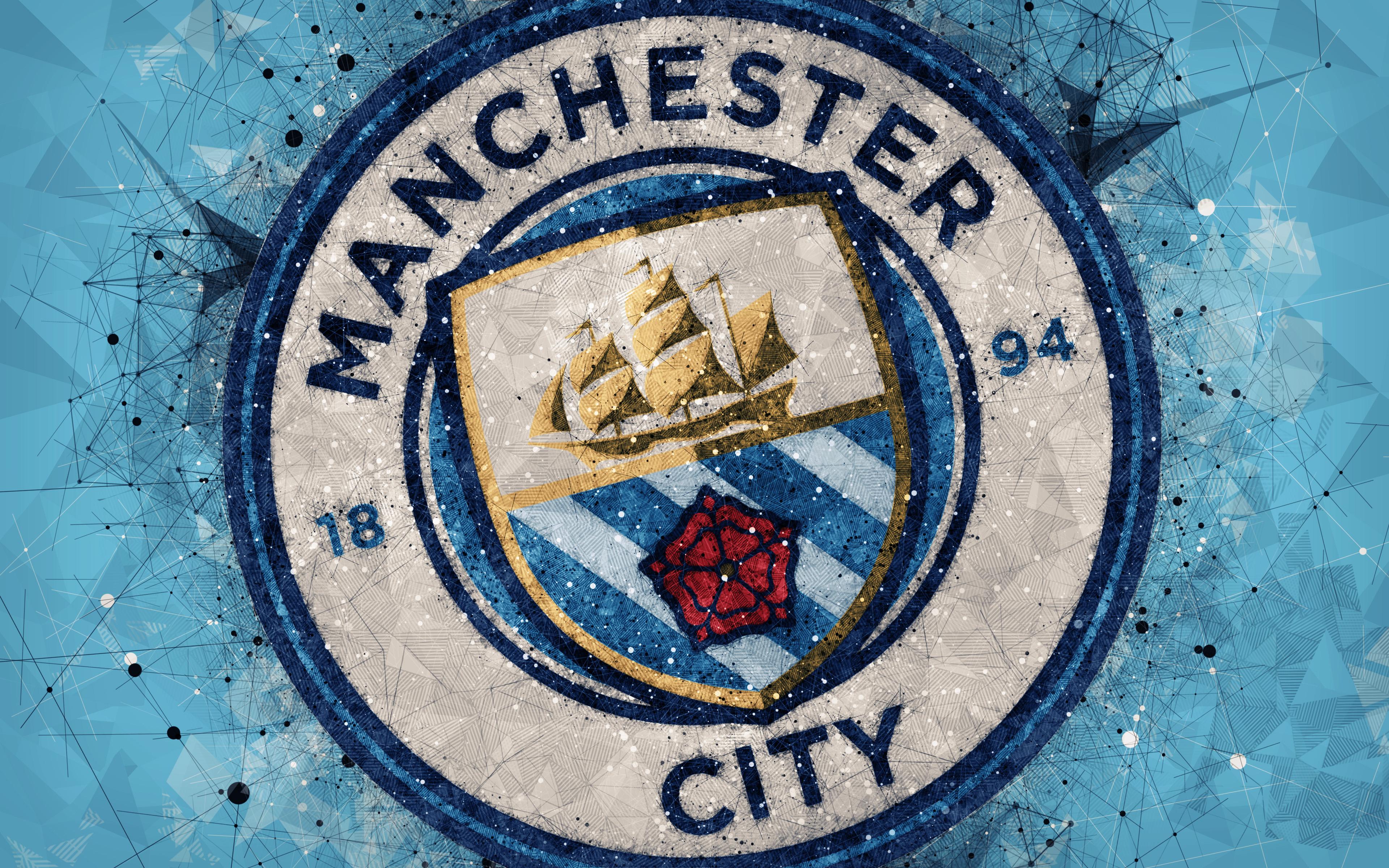 Manchester City Logo 4k Ultra Fondo de pantalla HD   Fondo ...