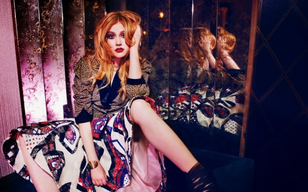 Celebrity Katherine Mcnamara Actresses United States Actress Redhead Lipstick American HD Wallpaper   Background Image