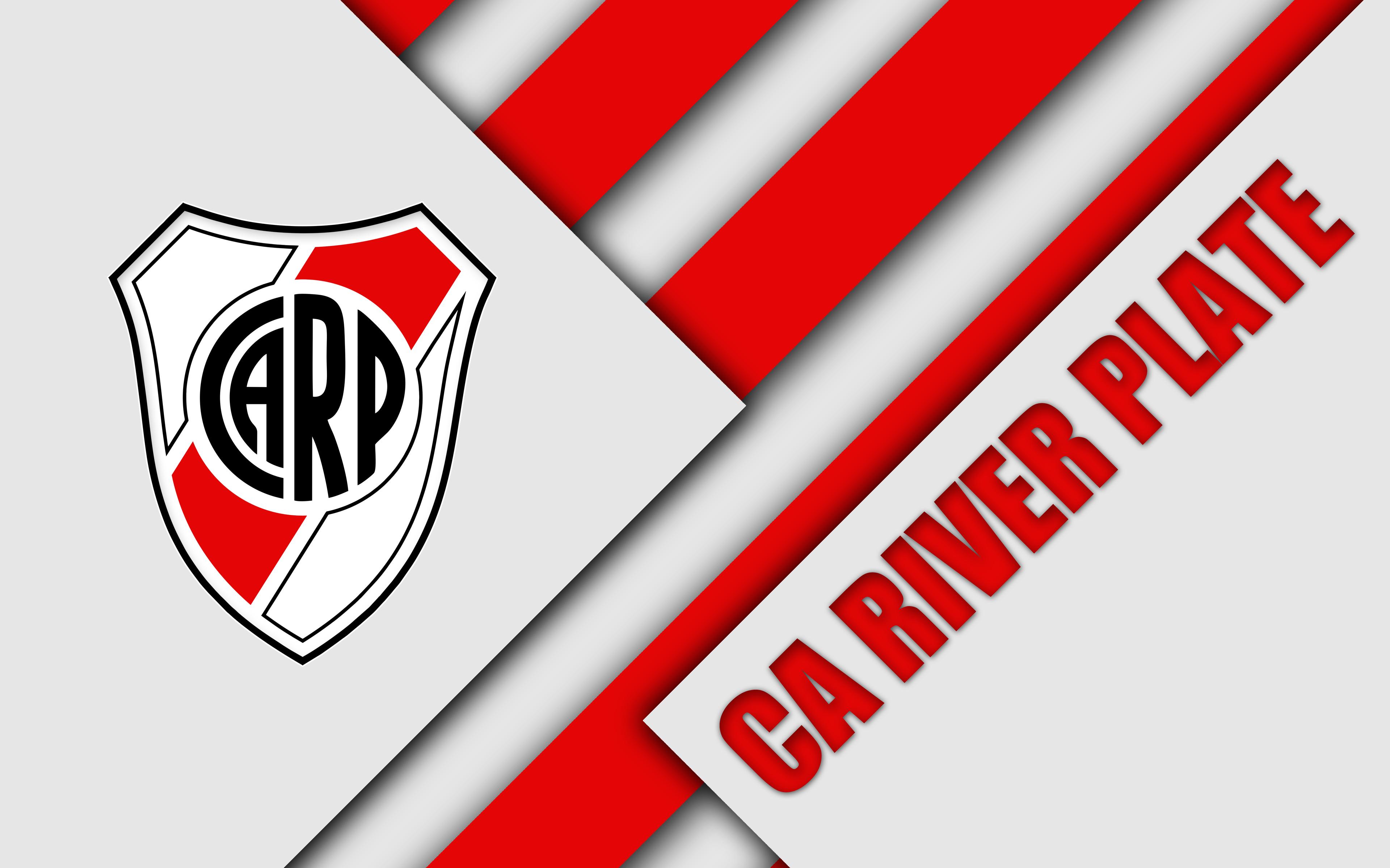 River Plate Logo 4k Ultra Fond Décran Hd Arrière Plan 3840x2400