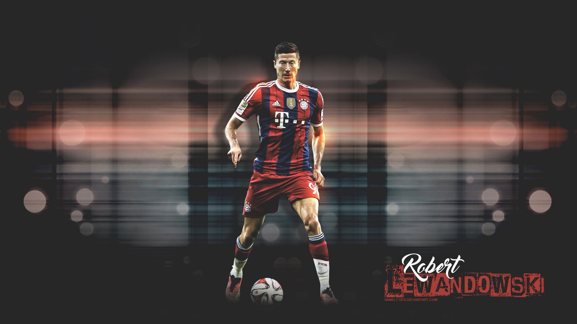 Robert Lewandowski Bayern Hd Wallpaper Hintergrund