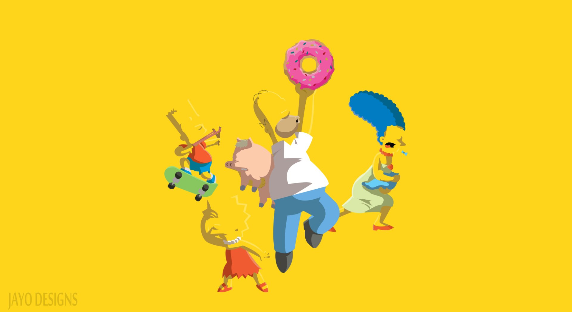 The Simpsons Minimalist Fond D Ecran Hd Arriere Plan