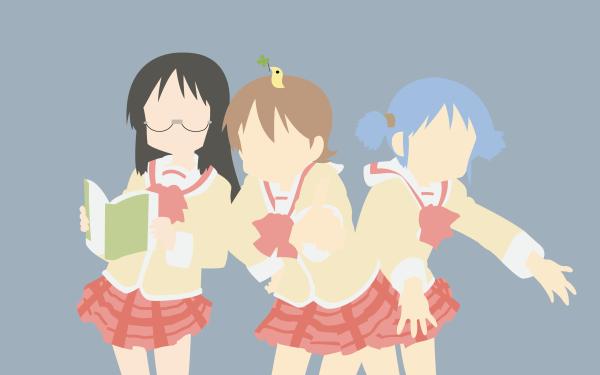 Anime Nichijō Mio Naganohara Yuuko Aioi Mai Minakami Glasses HD Wallpaper | Background Image