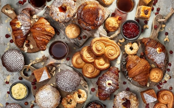 Food Baking Viennoiserie Croissant HD Wallpaper   Background Image