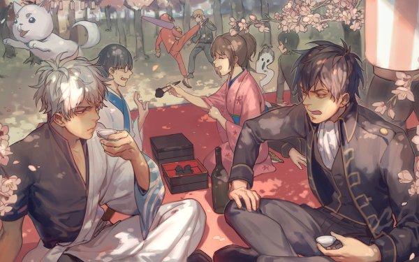 Anime Gintama Toushirou Hijikata Kagura Kondo Isao Okita Sougo Sadaharu Gintoki Sakata Shimura Shinpachi Tae Shimura Sagaru Yamazaki Fondo de pantalla HD | Fondo de Escritorio