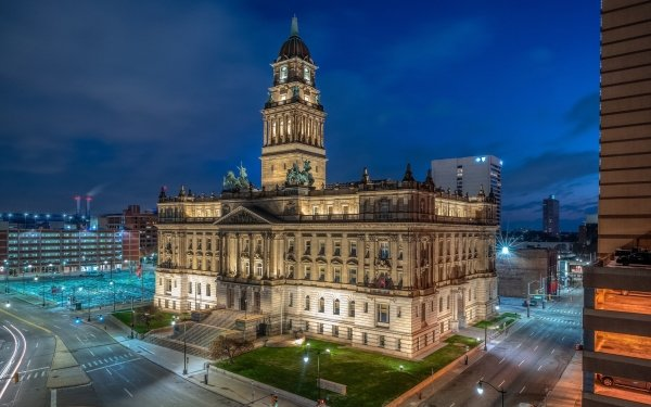 Man Made Detroit Cities United States Wayne County Building HD Wallpaper | Background Image