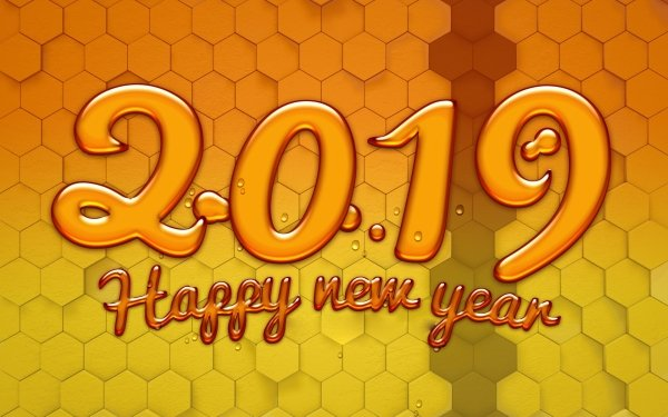 Holiday New Year 2019 Happy New Year Hexagon Pattern HD Wallpaper | Background Image