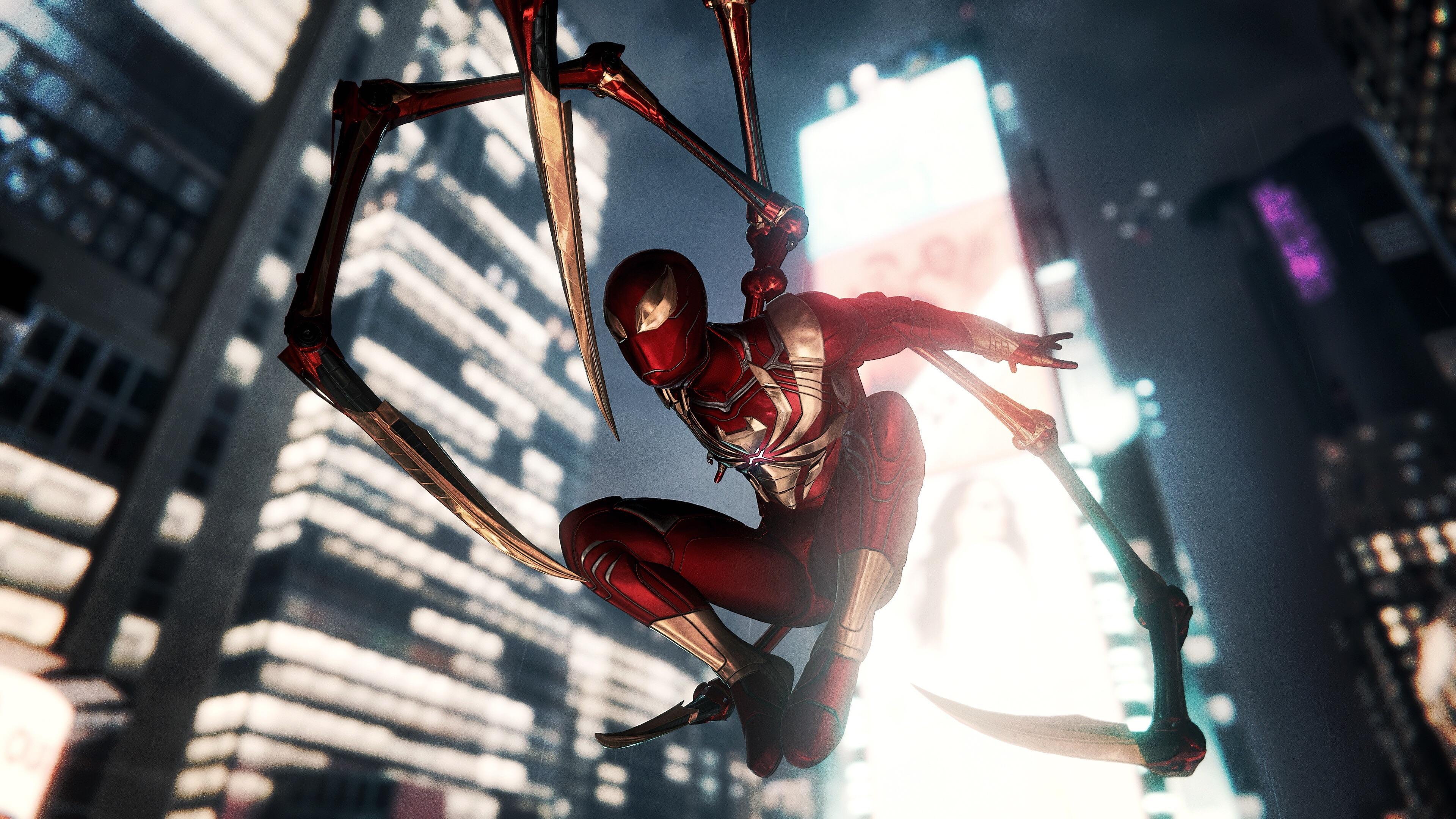 Iron Spider 4k Ultra Hd Wallpaper Hintergrund 3840x2160