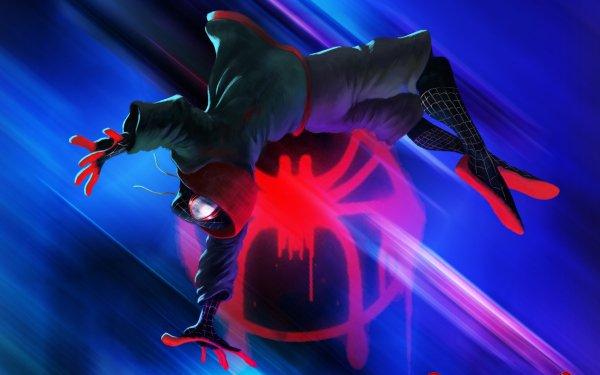 Movie Spider-Man: Into The Spider-Verse Spider-Man Miles Morales HD Wallpaper   Background Image