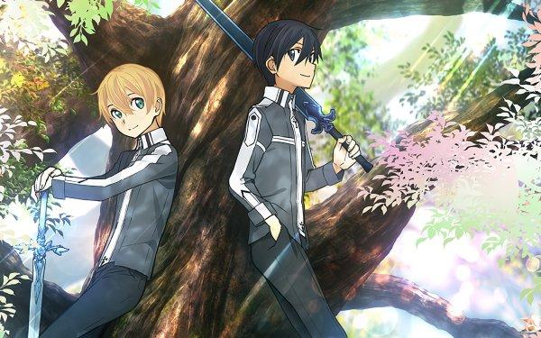 Anime Sword Art Online: Alicization Sword Art Online Eugeo Kirito Kazuto Kirigaya Blue Rose Sword Night Sky Sword HD Wallpaper | Background Image