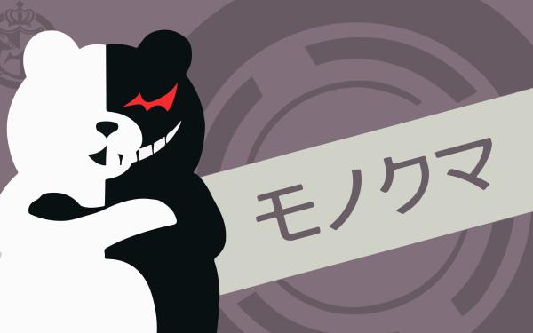 Anime Danganronpa Monokuma Minimalist HD Wallpaper | Background Image