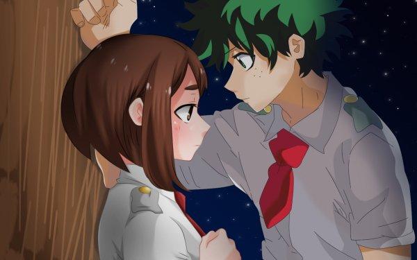 Anime My Hero Academia Ochaco Uraraka Izuku Midoriya HD Wallpaper | Background Image