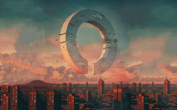 Sci Fi Spaceship Futuristic Building City HD Wallpaper | Background Image