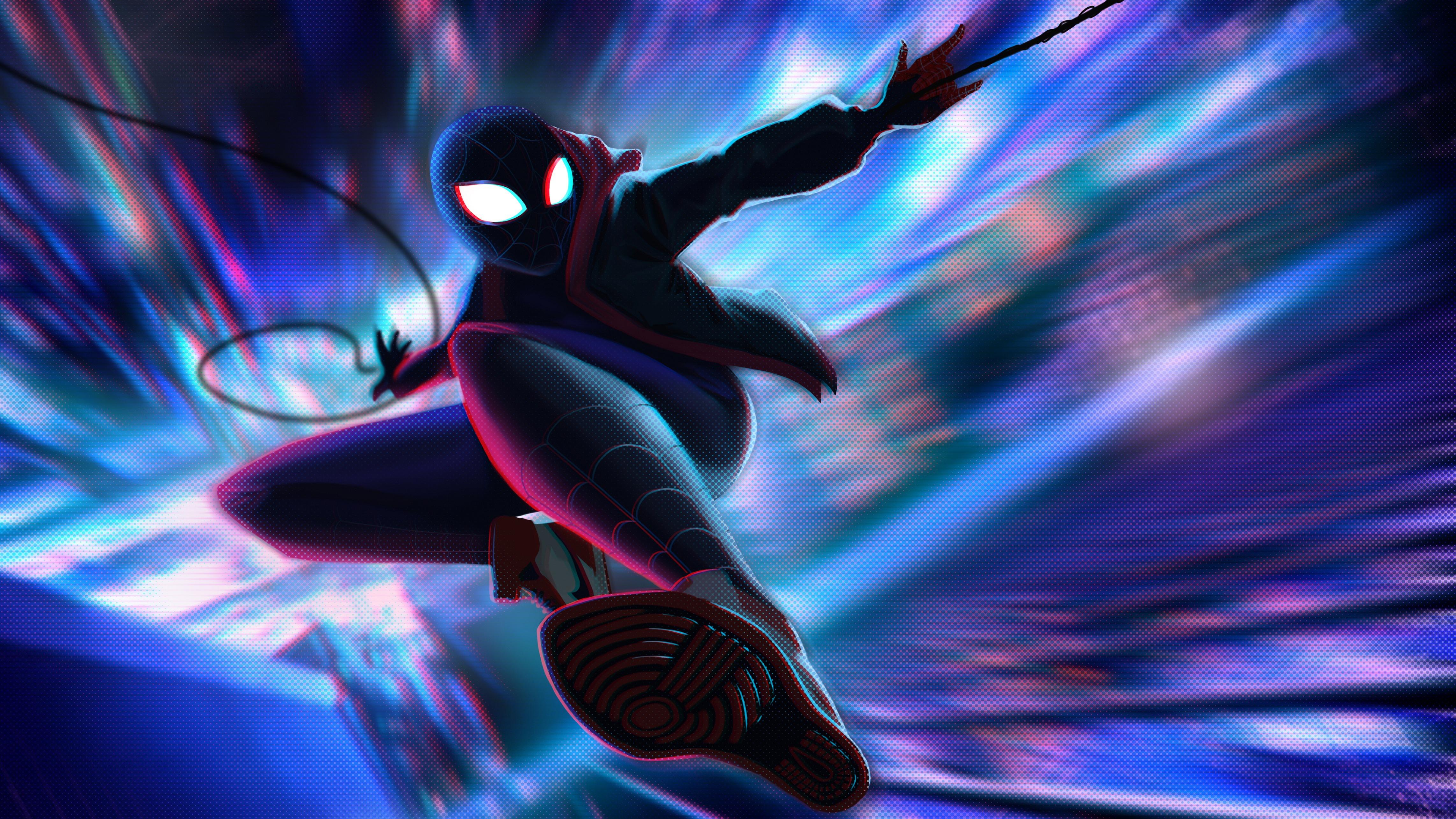 Homem Aranha No Aranhaverso 4k Ultra Papel De Parede Hd Plano
