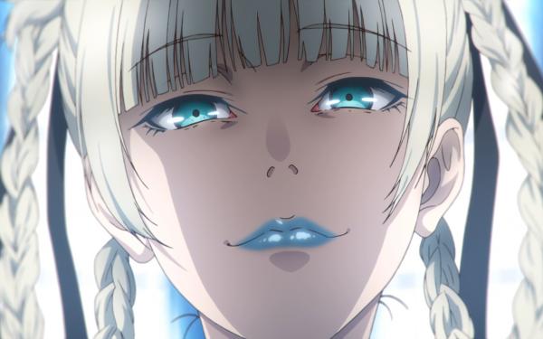 Anime Kakegurui Kirari Momobami Blue Eyes White Hair Braid HD Wallpaper | Background Image