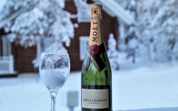 Food Champagne Glass Winter Alcohol HD Wallpaper | Background Image