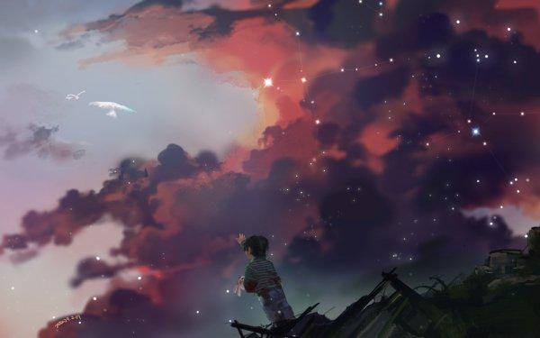 Anime Original Child Stuffed Animal Blood Bird War HD Wallpaper | Background Image