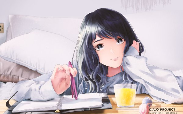 Anime Original Pen Glass HD Wallpaper | Background Image