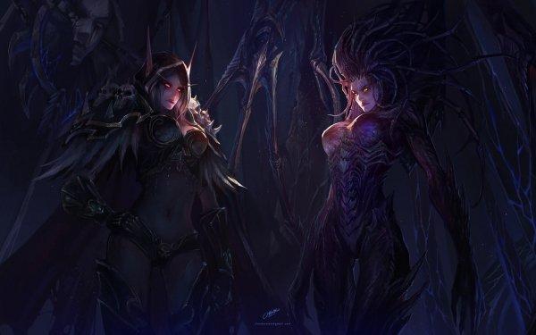 Video Game Crossover World of Warcraft Sylvanas Windrunner Sarah Kerrigan HD Wallpaper | Background Image