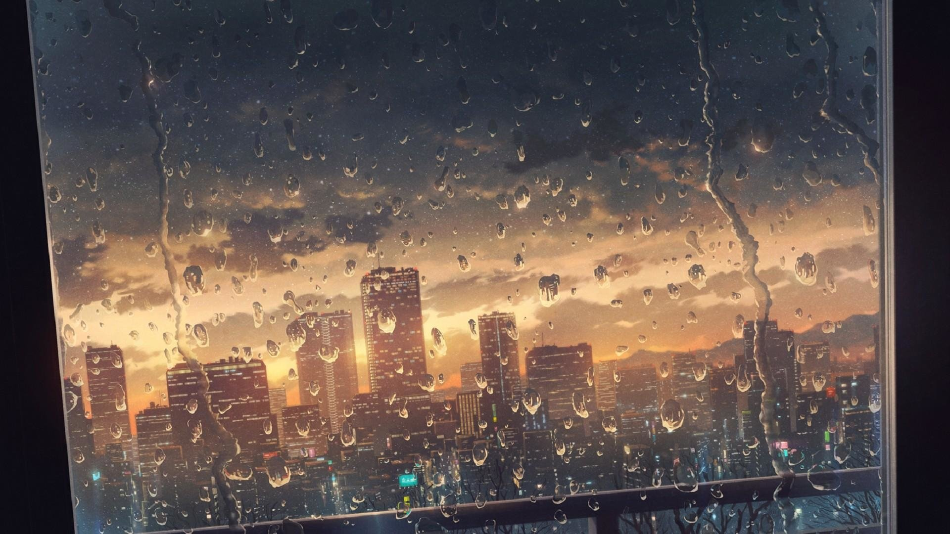 Rainy Hd Wallpaper Background Image 1920x1080 Id 998448 Wallpaper Abyss