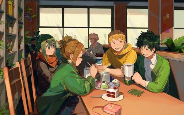 Anime My Hero Academia Izuku Midoriya Ochaco Uraraka Tsuyu Asui Mashirao Ojiro Katsuki Bakugou HD Wallpaper | Background Image